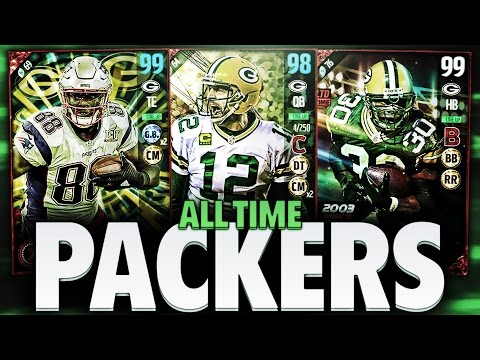 ALL TIME GREEN BAY PACKERS TEAM! MADDEN 17 SQUAD BUILDER