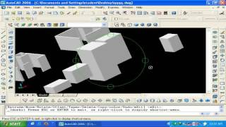 autocad 3d 2006 lecture 1 part 4 of 4 in urdu hindi