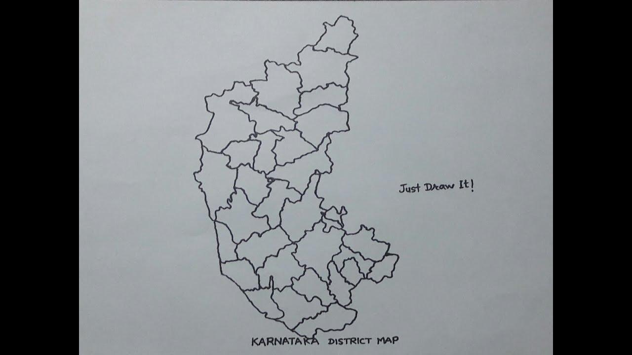 How to draw the map of Karnataka