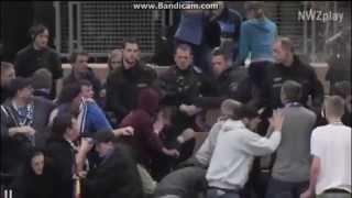 futsal vfb oldenburg fans clash with police 09 01 2015