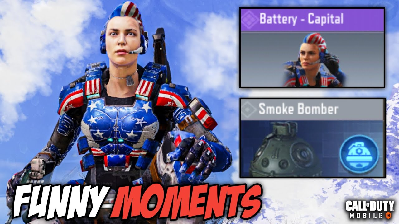Battery Capital & Smoke Bomber Class Experiences In Call Of Duty Mobile! (BattleRoyale Mode)