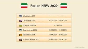 Ferien NRW 2020 - Termine Schulferien Nordrhein-Westfalen