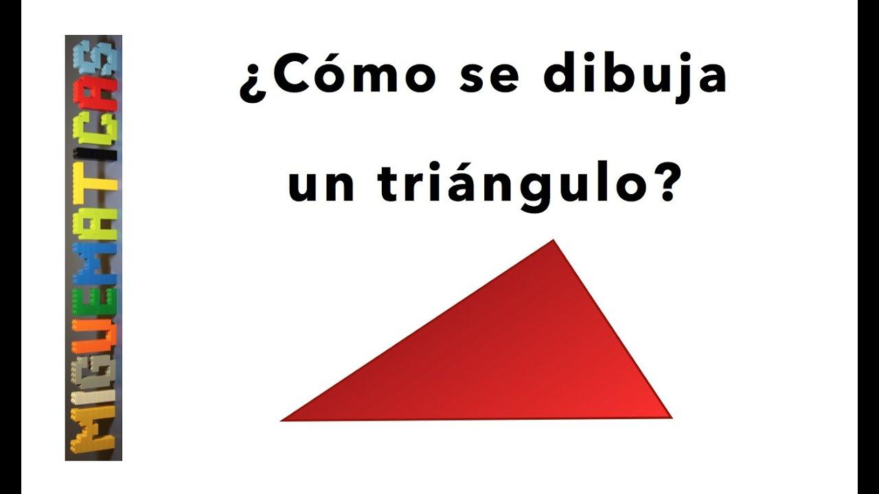 Geometria Como Se Dibuja Un Triangulo Muy Facil Youtube