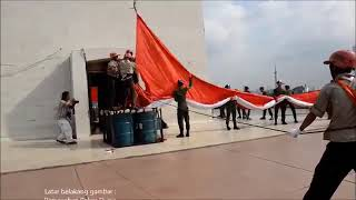 Download Video Pengibaran Bendera Merah putih Terbesar (Raksasa) MP3 3GP MP4