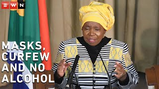 Cogta Minister Nkosazana Dlamini-Zuma and Justice Minister Ronald Lamola briefed the media on Monday 13 July 2020, following President Cyril Ramaphosa's address to the nation on Sunday.  #CoronavirusSA #Lockdown #Masks #Alcoholban