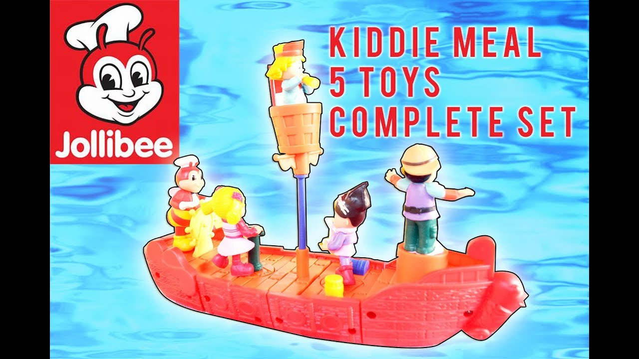 Jollibee Kiddie Meal 5 Toys Complete Set Sea Adventure
