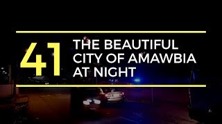 The beautiful city of Amawbia at night