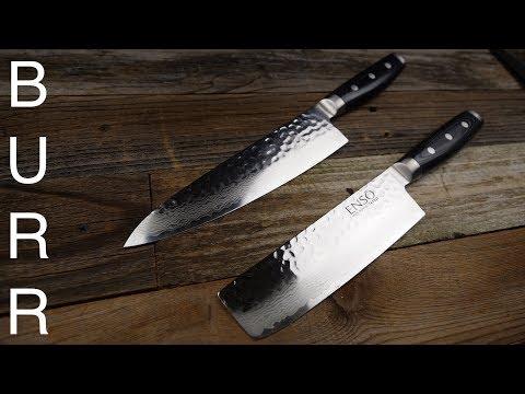 Download Youtube: Yaxell Enso Nakiri vs Chef Knife Food Cut Demo + Review