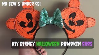 VLOGOWEEN Day One - DIY Disney | Mickey Halloween Pumpkin Ears | UNDER $5!
