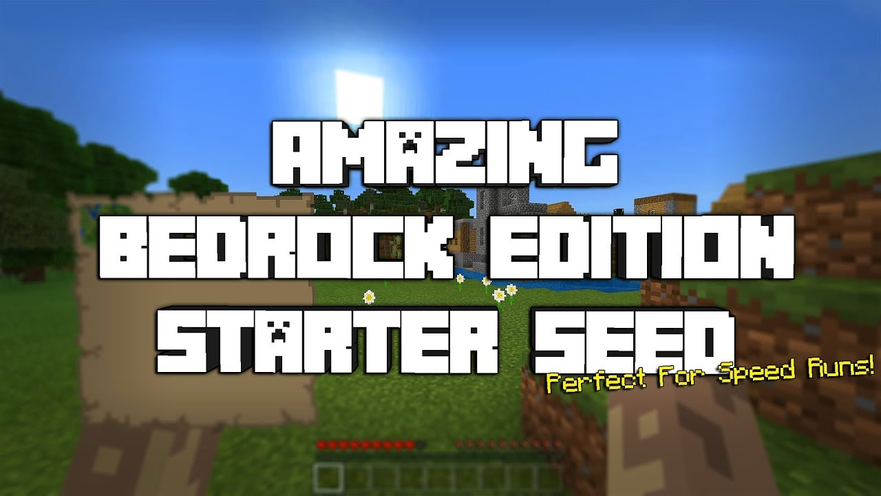 AMAZING Bedrock Edition Starter Seed(Not Clickbait)