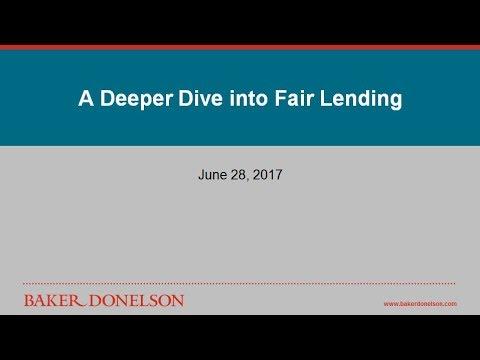 A Deeper Dive into Fair Lending