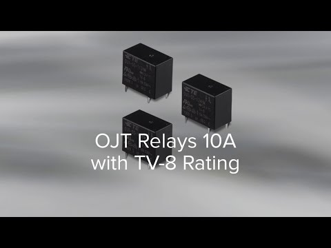 TV-8 RATED OJT 10A SERIES POWER RELAY
