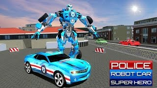 Police Car Robot Superhero (By Whiplash Mediaworks) Android Gameplay HD