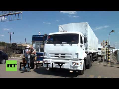 Russia: No More Excuses! Delayed Russian aid convoy crosses Ukrainian border