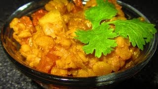 Bottle Gourd Curry With Yellow Split Gram (dudhi Chana Ni Daal Nu Shak) By Crazy4veggie.com