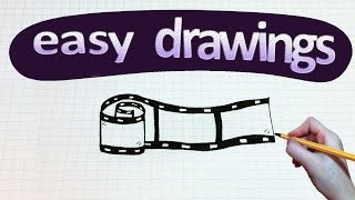 Easy drawings #126  How to draw a film