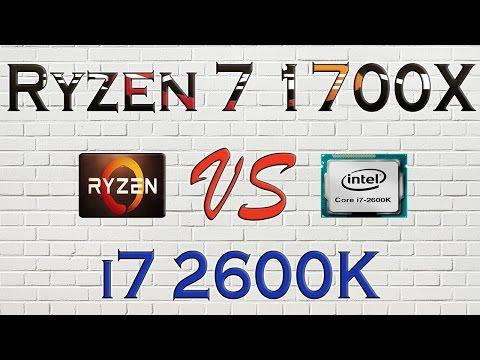 RYZEN 7 1700X vs i7 2600K - BENCHMARKS / GAMING TESTS REVIEW AND COMPARISON / Ryzen vs Skylake