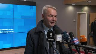 Arms Embargo And Ceasefire Are The Most Important Elements For Libya. Pekka Haavisto In Brussels