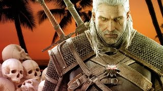 the witcher 3 bloody dismemberment and a beautiful sunset ign plays live