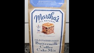 Confections From California: Martha's Old Fashioned Buttermilk Coffee Cake Mix