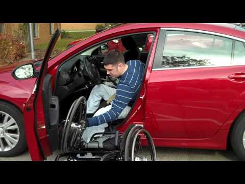 Wheelchair Car Transfer - Josh Brunner - Paraplegic - Mazda 6