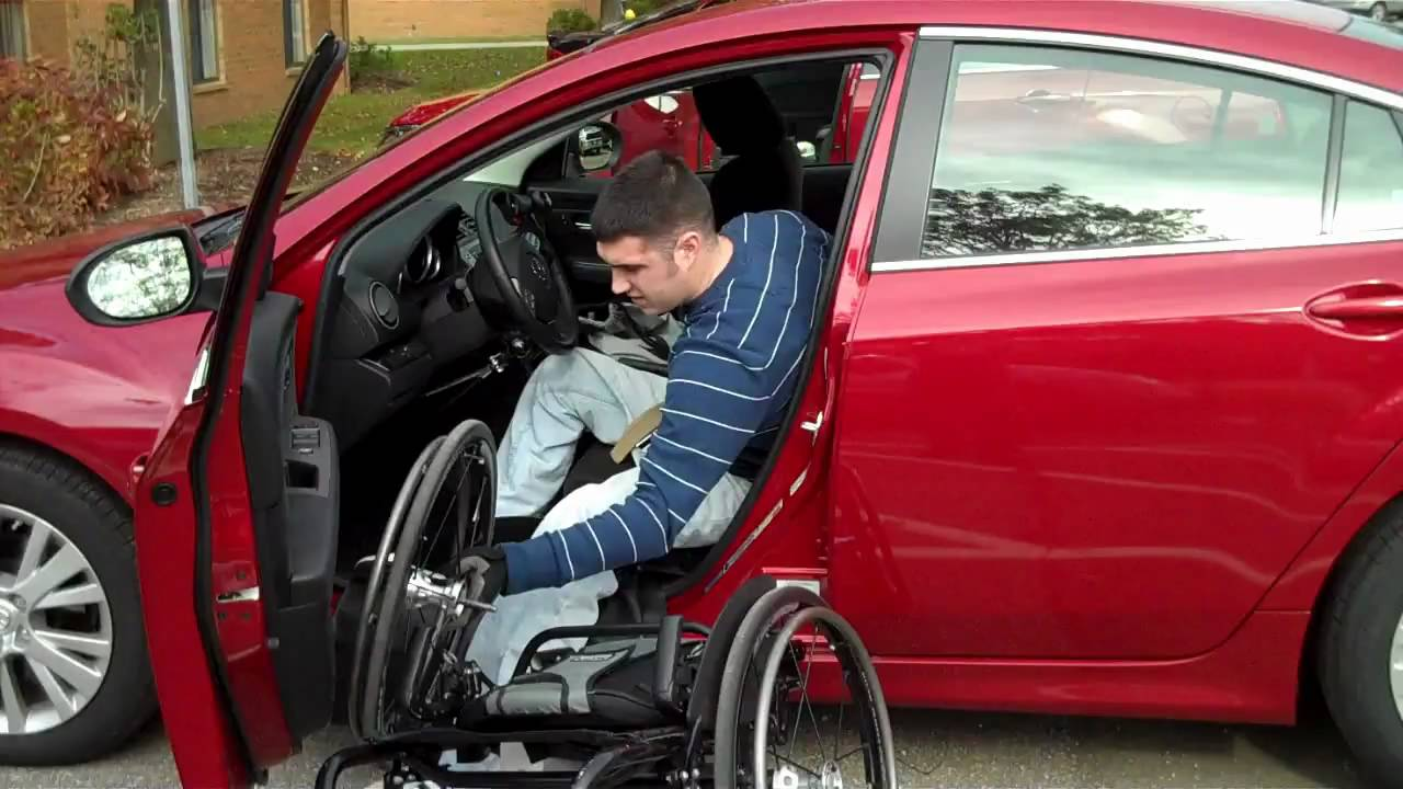 wheelchair car transfer josh brunner paraplegic mazda 6 youtube. Black Bedroom Furniture Sets. Home Design Ideas