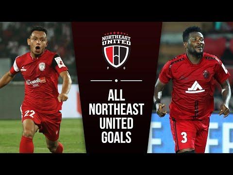 ISL 2019-20 All Goals: NorthEast United FC ft. Asamoah Gyan & Redeem Tlang