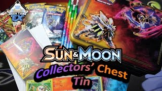 Early Pokemon Sun & Moon Collector's Chest Tin Opening