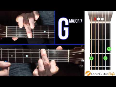 How To Play G major 7 on Guitar | Open Chord Library - YouTube