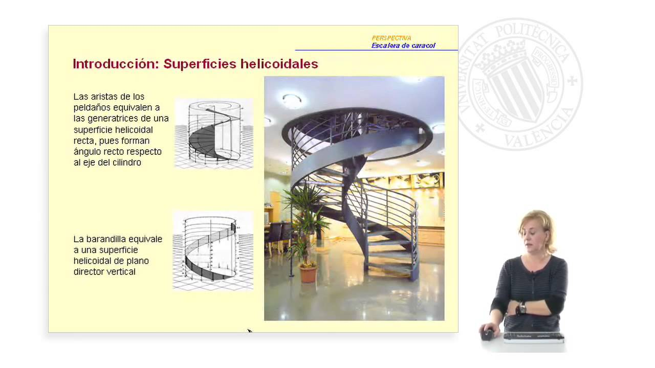 Perspectiva: Escalera de caracol | | UPV - YouTube