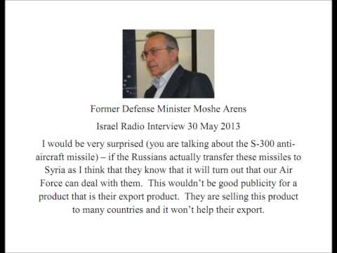 Former DM Moshe Arens   Israel can deal with S 300