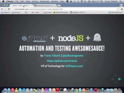 jQuery + Node.js + Phantom.js = Automation Awesomesauce!