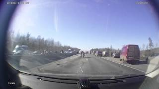 Последствия ДТП на М7 16 марта 2015 ()