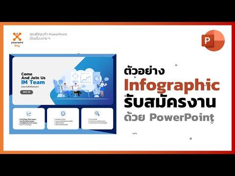 ตัวอย่างทำ Infographic รับสมัครงาน ด้วย PowerPoint ทีละขั้นตอน