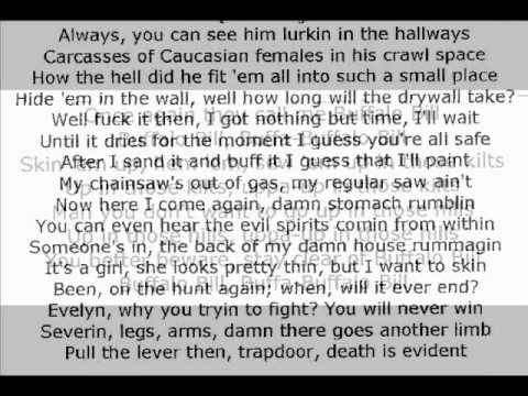 Eminem, Buffalo Bill lyrics, In syn with song.