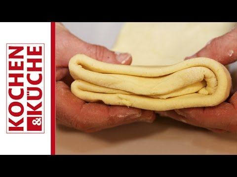 Blätterteig selber machen | Kochen und Küche - YouTube