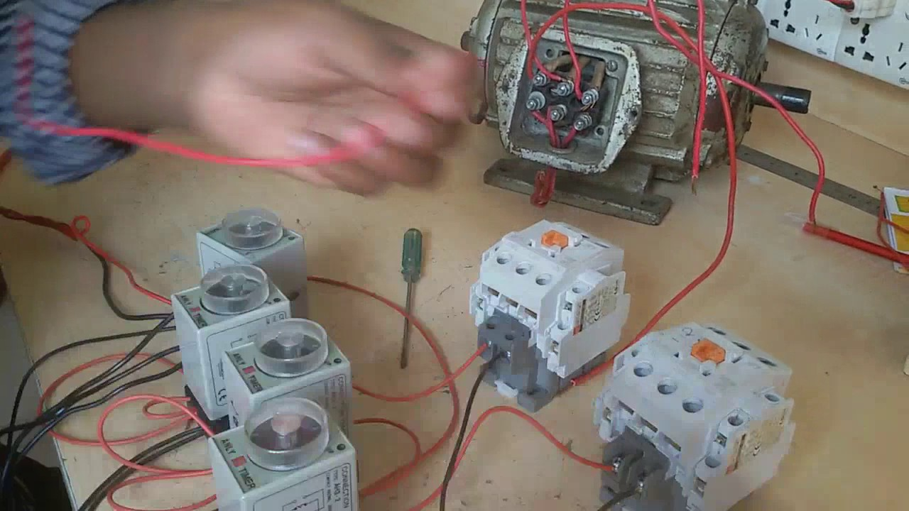 Three Phase Motor Connection By Auto Reverse Forward