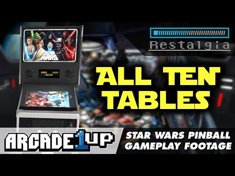 Arcade1UP Star Wars Pinball Gameplay of ALL 10 Tables from Restalgia