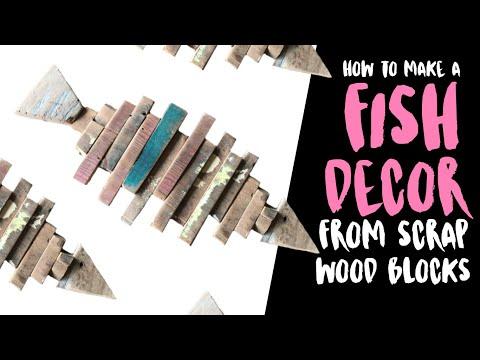 DIY Wooden Fish Decor | Scrap Wood Project Ideas
