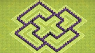 Clash of Clans - TH6 - Trophy/Clan Wars Base (The Castle)