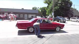 GTO Burnout on the street, Crescent, Iowa. July 2015