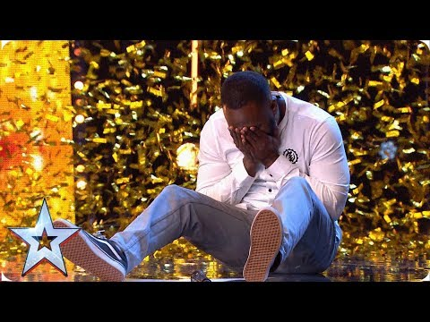 Romeo Valentine - Comedian Kojo gets Simon's GOLDEN BUZZER | Auditions | BGT 2019