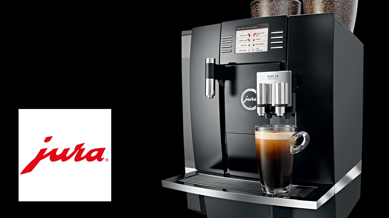 jura giga x8 professional kaffeevollautomat fully automatic coffee machine youtube. Black Bedroom Furniture Sets. Home Design Ideas