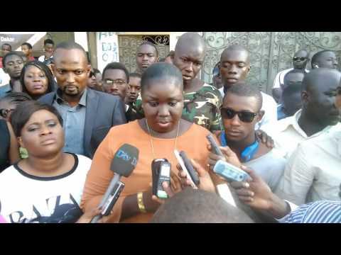 une conférence de presse  des jeunes de cojer  très  mouvementée