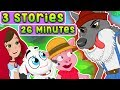 Three Little Pigs - Little Red Riding Hood - Wolf and the 7 little goats kids story collection