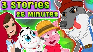 Bedtime stories for Kids | Three Little Pigs - Little Red Riding Hood - Wolf and the 7 little goats