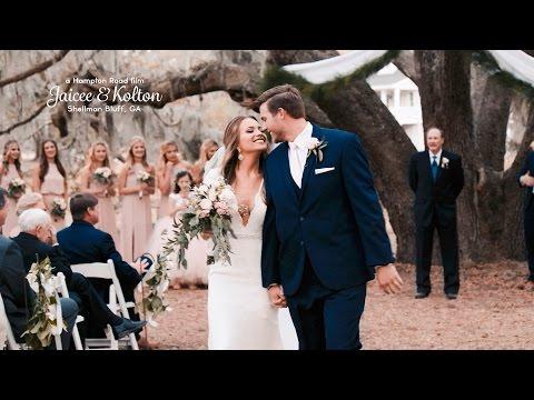 Jaicee & Kolton // Coastal Georgia Wedding (4K Wedding)