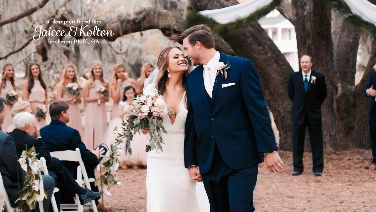 Jaicee & Kolton // Coastal Georgia Wedding (4K Wedding) - YouTube