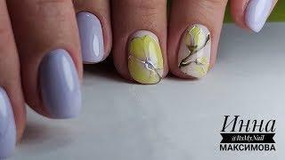 ❤ НЕЖНЫЙ дизайн ПОШАГОВО ❤ рисуем ЦВЕТЫ на ногтях ❤ MASURA ❤ дизайн ногтей гель лаком ❤