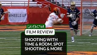 Lacrosse Film Review: Shooting With Time & Room, Spot Shooting, Step Down Shooting & More